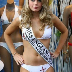 Miss England in a crazy bikini