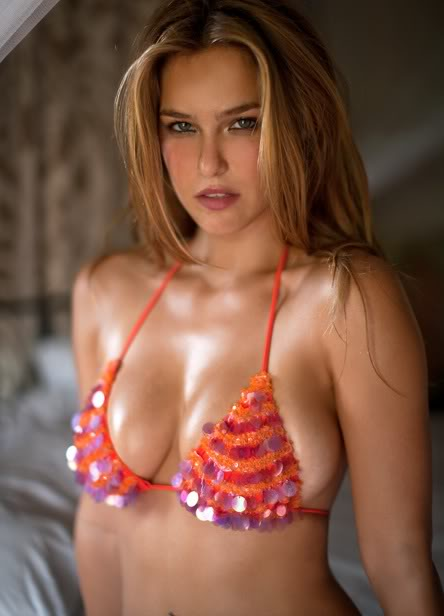 Blonde Orange Bikini Top