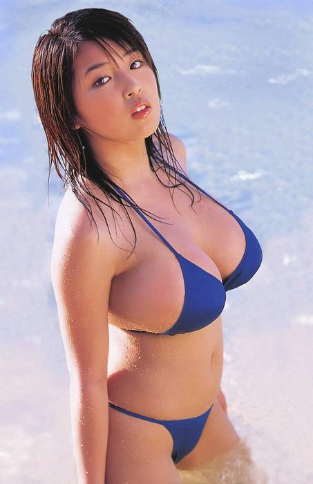 Crazy Hot Asian Chic Blue Bikini