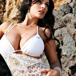 Denise Milani celebrity white bikini