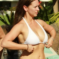 Jennifer Love Hewitt White Bikini Top