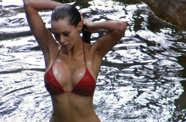 Jessica Jane Clerment Red Bikini