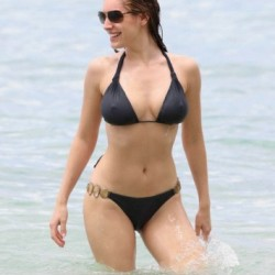 Kelly Brook Hot Black Bikini