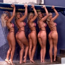 Swedish Bikini Team Hot Blonde Girls