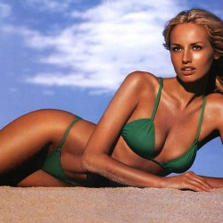Adriana Sklenarikova ,green bikini,beach.blonde, hot girls