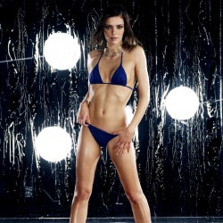 Adrianne Curry, blue bikini,string bikini,long legs