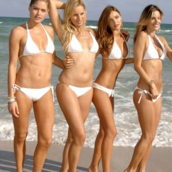 white bikinis, bikinis models, beach