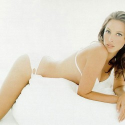 Christy Turlington white bikini