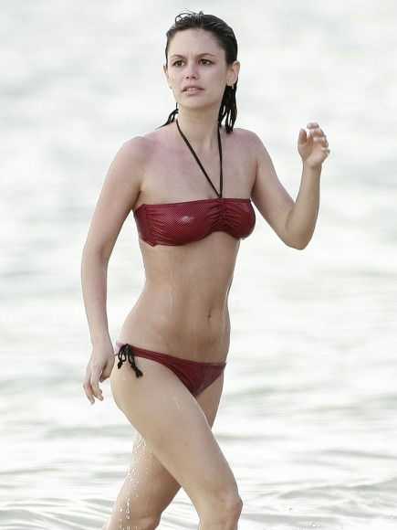 Rachel Bilson Red Bikini Beach