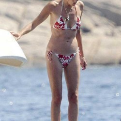 Sharon Stone red bikini