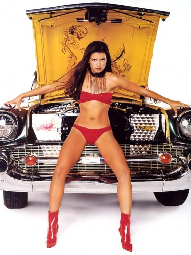 race car driver Danica Patrick red bikini 2012