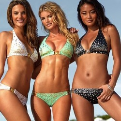 3 girls in bikinis, bikini models, super fit