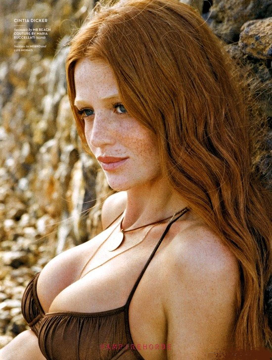 Sexy Redhead with Long Hair